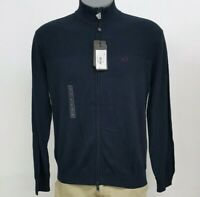 Armani Exchange Navy Men's L/S 3/4 Zip Pullover Sweater NWT $100 Choose Size