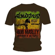 Bob Marley Exodus 1977 Movement Official Mens Brown T Shirt All Sizes M