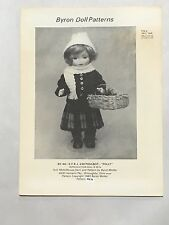 """Nos 1982 Byron Doll Clothing Pattern Polly For 10 1/2"""" Dolls Uncut By48"""