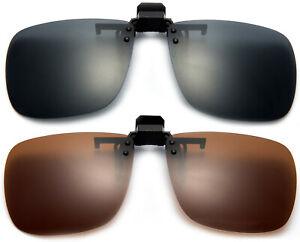 Groß Polarisierte Gläser Blendung Block Clip On Flip Auf Sonnenbrille Fahren