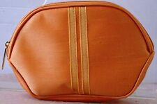 "EUC Iridescent GOLD COSMETIC Bag by ESTEE LAUDER 5"" h x 7"" w x 2.2"" d Zip w.LOGO"
