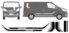 Renault Trafic / Opel Vivaro Sport - Vinyle Côté Rayures Et Capot ( Swb )