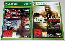 2 XBOX 360 SPIELE BUNDLE UFC UNDISPUTED 2009 2010 ULTIMATE FIGHTING CHAMPIONSHIP