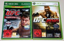 2 XBOX 360 SPIELE BUNDLE UFC UNDISPUTED 2009 2010 ULTIMATE FIGHTING CHAMPIONSHIP