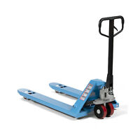 "Titan Attachments Hand Pallet Jack Truck, 48""L x 27""W, 5,500 LB Capacity, Blue"