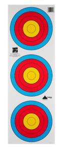 3 Spot Archery Target faces- 20cm 3 spot heavy reinforced -  10/20/50/100 Packs