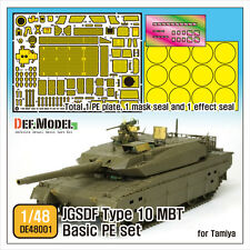 DEF.MODEL, JGSDF TYPE 10 MBT Basic PE set (for 1/48 Tamiya), DE48001