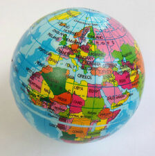 World Globe Foam Stress Ball - Educational / Executive Toy. Planet Earth FT