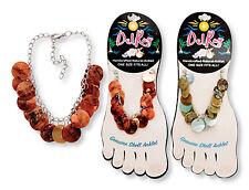 Dangling Disc Shell Anklet Ankle Bracelet Stocking Stuffer! (sold individually)