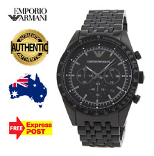 Emporio Armani AR5989 Sportivo Men's Black Stainless Steel Chronograph Watch