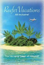 Reefer Vacations Marijuana Poster