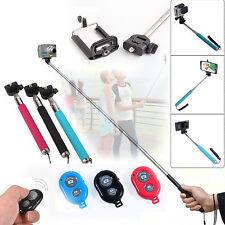 Monopod Handheld Selfie Extendable Holder Remote Control Camera iPhone Samsung