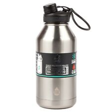TAL Silver 64oz (1.9L) Double Wall Vacuum Insulated Stainless Steel Water Bottle