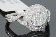 10K SOLID WHITE GOLD 1.12 CT REAL DIAMOND WOMEN BRIDAL WEDDING ENGAGEMENT RING