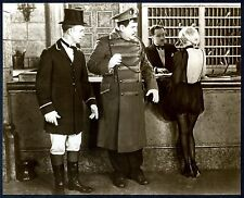 "STAN LAUREL&OLIVER HARDY w/JEAN HARLOW in DOUBLE WHOOPEE~8""x10 SEPIA MOVIE PHOTO"