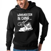 China Sack Reis umfällt umgefallen Reissack Kapuzenpullover Hoodie Sweatshirt