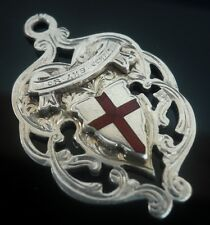 Silver Enamel Watch Fob Medal, Birmingham 1902, William Adams Ltd