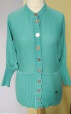 Karen Millen Cotton Cardigan Dolman Sleeves Size 12 Ladies Womens Aqua Green