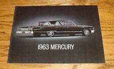 Original 1963 Mercury Full Size Car Sales Brochure 63 Monterey S-55