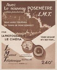 Z8441 Posemétre L.M.T. - Pubblicità d'epoca - 1935 Old advertising