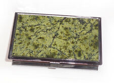NEW!! Serpentinite Business card BOX. Deep color !! South Ural, Russia. #3
