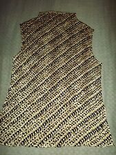 LADIES PETITE SOPHISTICATE STRETCHY FIT TEXTURED SLEEVELESS TOP sz SMALL