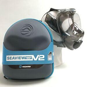 New Wildhorn Seaview 180° V2 Snorkel Size Medium With Storage Case 421074