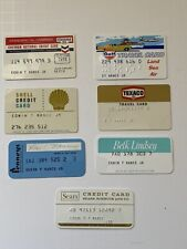 New ListingLot of 7 Vintage 1970s Credit Cards Pre-magnetic Strip Oil and Gas & Dept. Store
