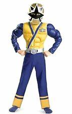 Power Rangers Size 10-12 Large Samurai Gold Muscle Child Ranger Costume New