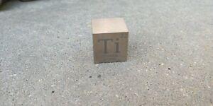 1 inch 25.4 mm Titanium Ti metal element cube periodic table 99.9% pure
