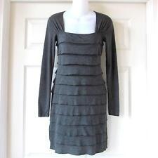 NWOT Max Studio Gray Layered Long Sleeve Dress Size XS