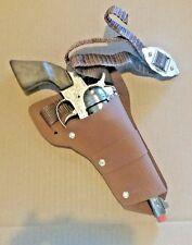 """NEW Wild West Cowboy Vinyl Holster & Belt Set - Fits Most Cap Gun up to 11"""" Long"""