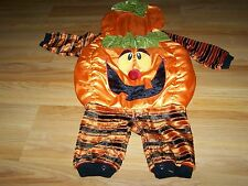 Infant Size 12 Months Kids Klassics Pumpkin Jack O Lantern Halloween Costume EUC