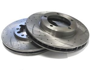 PAIR OF SLOTTED DIMPLED Front 296mm BRAKE ROTORS D748S x 2 CHASER 96~01 2.5L