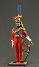 Toy tin soldiers 54 mm.The Napoleonic wars.Officer, red lancer . France in 1812.