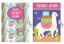 2019 Week to View Girls Secret Diary With Lock And Keys Lockable Diary Hardback