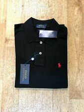 Ralph Lauren Men's Custom Fit Short Sleeve Polo - Black - XL