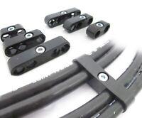 Black Ignition Lead Brackets Separators Set 6 Spark Plug Wires suit V8 or 6