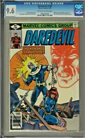 Daredevil #160 CGC 9.6 Bullseye Black Widow Peter Parker app Frank Miller