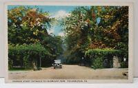 Johnson Street Entrance to Fairmount Park Philadelphia Pa Postcard A6