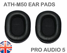 Leather ear pads for Audio Technica ATH-M50  M50S M20 M30 ATH-SX1 - UK POST