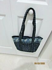 VERA BRADLEY NAVY BLUE PRINT SHOULDER PURSE
