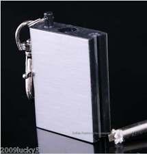 Permanent Metal Match Box Lighter Striker Gadget Military Novelty Keyring Flame