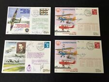 Four Vintage Signed Flight Covers