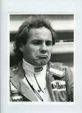 Gerhard Berger Ferrari Portrait Belgian Grand Prix 1988 Signed Press Photograph