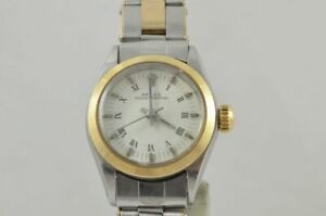 Rolex Oyster Perpetual Women's Watch 6618 Steel/Gold Nice Condition with Steel