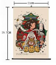 "Hot Japan Anime Spirited Away Poster Wall Scroll Home Decor 8""×12"" 01"