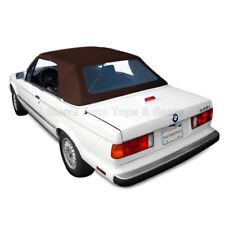 BMW 3-Series Convertible Top, 1987-93, Brown Twillfast, Plastic Window