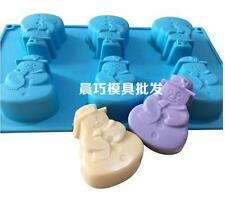 6 Cavity Xmas Deer Snow Man Sled Gift Shape Silicone Mold Fondant Cake Decoration Mold Ice Mold Resin Clay Craft Mold Diy Tool Hair Extensions & Wigs