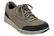 Clarks Women's Leather Lace-up Walking Shoes - Darleigh Cora Sage 8M